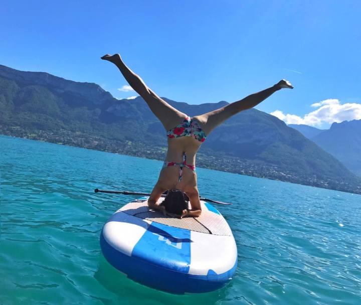 Paddle Yoga sur le lacd'Annecy